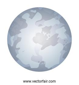 Isolated moon icon vector design