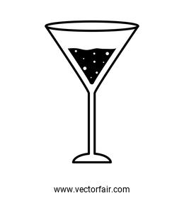 martini cocktail glass cup silhouette style icon vector design