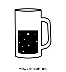 beer glass silhouette style icon vector design