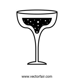 margarita cocktail glass cup silhouette style icon vector design
