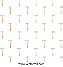 hammers construction tools pattern background