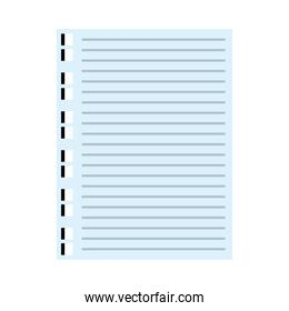 notebook paper sheet isolated icon
