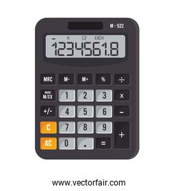 calculator math device with numbers