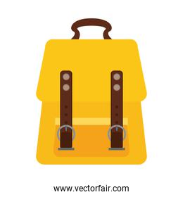 schoolbag bagpack supply isolated icon