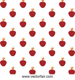 autumn apples fruits pattern background
