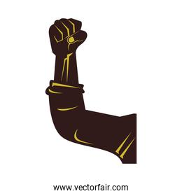 strong hand fist isolated icon