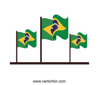 brazil flags country isolated icon