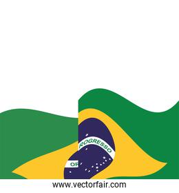 brazil flag country isolated icon