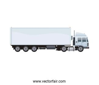 white truck car vehicle brand isolated icon