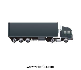 black truck car vehicle brand isolated icon