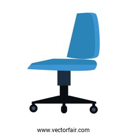 office chair blue color isolated icon