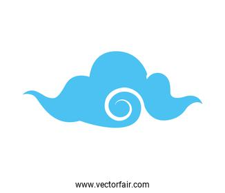 japanese cloud style isolated icon