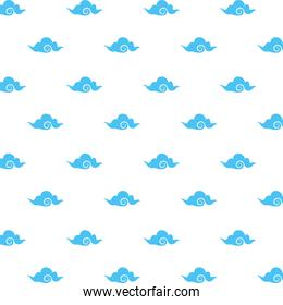 japanese clouds style pattern background