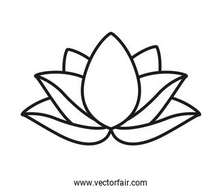 lotus flower asian isolated icon