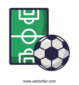 soccer sport balloon with camp