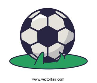 soccer sport balloon isolated icon