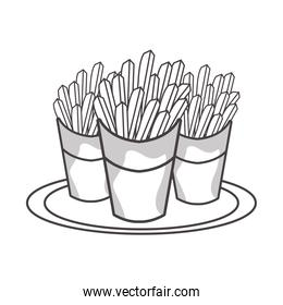 delicious french fries fast food