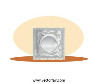 gray condom contraceptive product isolated icon