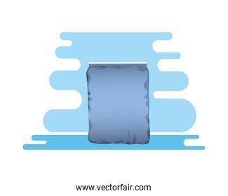 blue packing bag product icon