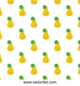 pears fresh delicious fruits pattern background