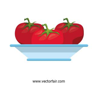 tomatoes healthy vegetables in dish