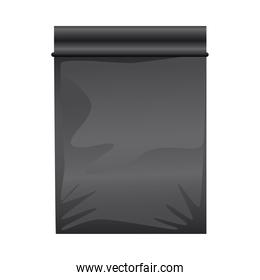 black packing bag product icon