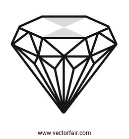diamond stone jewerly isolated icon