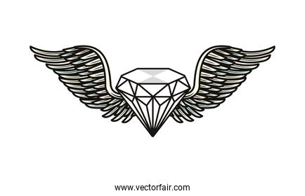 diamond stone jewerly with wings