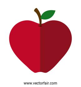 apple fruit fresh nutrition flat icon with shadow