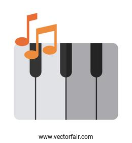 keyboard piano musical instrument flat icon with shadow