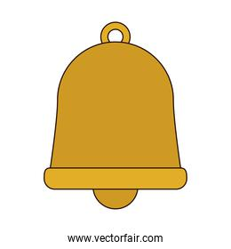 gold bell ornament line and fill style icon