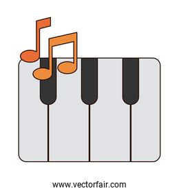 keyboard piano musical instrument line and fill style icon