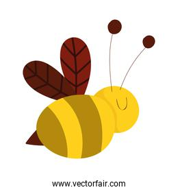 cute animals bee insect cartoon isolated icon design white background