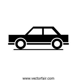 car sedan model transport vehicle silhouette style icon design