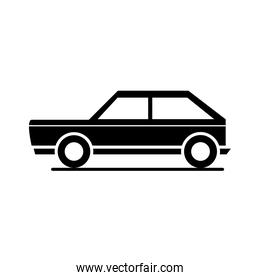 car hatchback model transport vehicle silhouette style icon design