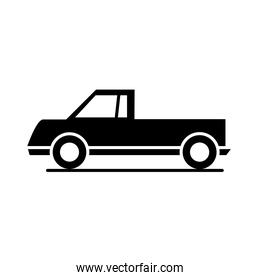 car pickup model transport vehicle silhouette style icon design