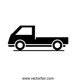 car mini truck model transport vehicle silhouette style icon design