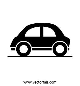 car micro model transport vehicle silhouette style icon design