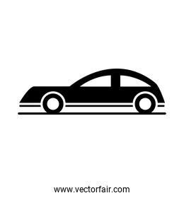 car coupe model transport vehicle silhouette style icon design