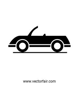 car cabriolet model transport vehicle silhouette style icon design