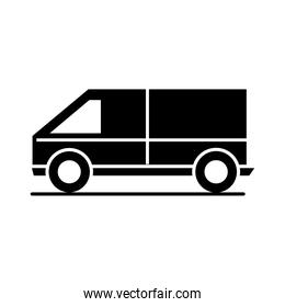 car van model transport vehicle silhouette style icon design