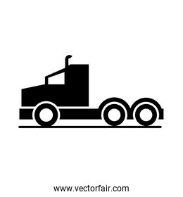 car truck head model transport vehicle silhouette style icon design