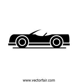 car roadster model transport vehicle silhouette style icon design