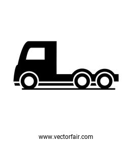 car trailer head truck model transport vehicle silhouette style icon design