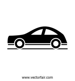 car luxury model transport vehicle silhouette style icon design