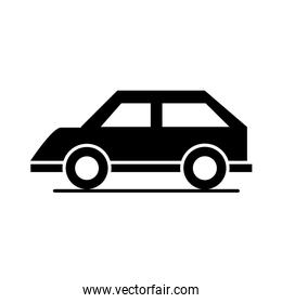 car model transport vehicle vintage silhouette style icon design