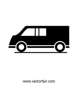 car model transport vehicle speed silhouette style icon design