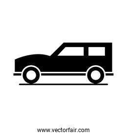 suv car model transport vehicle silhouette style icon design