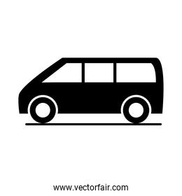 car compact cuv model transport vehicle silhouette style icon design