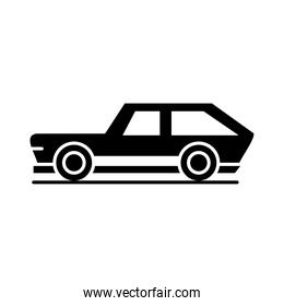 car transport automotive vehicle silhouette style icon design